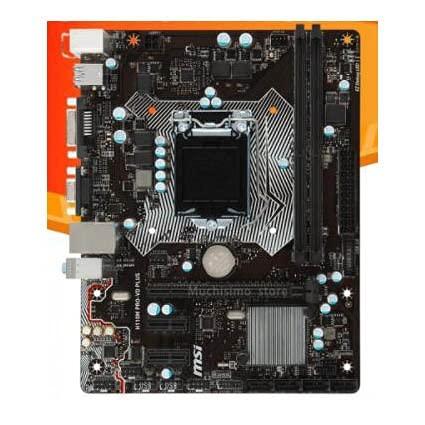 LWCX Placa Base LGA 1151 MSI H110M Pro-Vd Plus Fit for Intel 6Th-Gen I7 I5 I3 CPU DDR4 32GB PCI-E 3.0 Compatible con Intel H110 Placa-Mãe 1151 DDR4