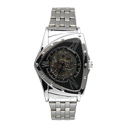 Armbanduhren,Kreative Dreieckige Automatische Mechanische Uhr Business Hollow Leisure Waterproof Watch, E.