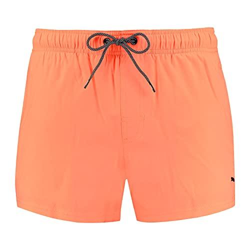 PUMA Men Short Length Swim Shorts Bañador, Naranja (Orange), L para Hombre