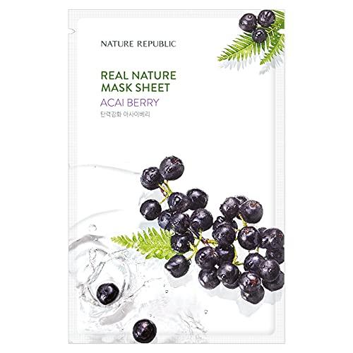 [New] Nature Republic Real Nature Mask Sheet_10Sheet (#Acai Berry)