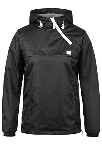 BlendShe Brij Damen Windbreaker Übergangsjacke Regenjacke Mit Kapuze, Größe:M, Farbe:Black (20100)