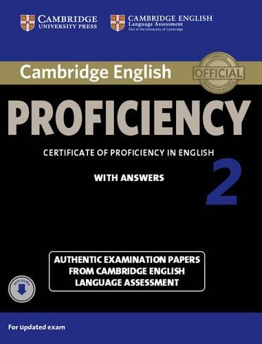 Cambridge English Proficiency 2 Student's Book with Answers with Audio: Authentic Examination Papers