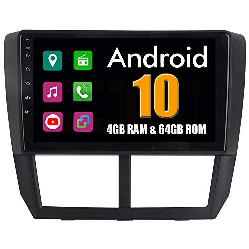 RoverOne 9 Pouces Système Android Octa Core pour Subaru Forester 2008 2009 2010 2011 2012 de Voiture Lecteur multimédia avec Radio Navigation GPS Autoradio stéréo Bluetooth Mirror Link écran Tactile