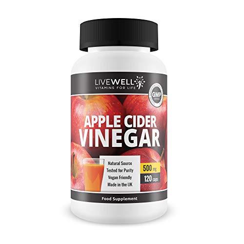 Apple Cider Vinegar 120 Capsules – 1000mg Daily Dosage – UK Made – Premium Quality Supplements – Vegan Friendly