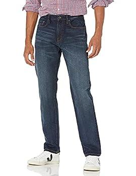 Amazon Essentials Men s Athletic-Fit Stretch Jean Dark Wash 36W x 30L