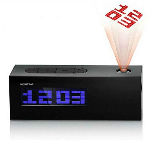 Radio Reloj Despertador Proyector Sony Reloj Despertador De Proyección Con Radio Fm Reloj Electrónico De Regalo Multifuncional Electrónico@Negro
