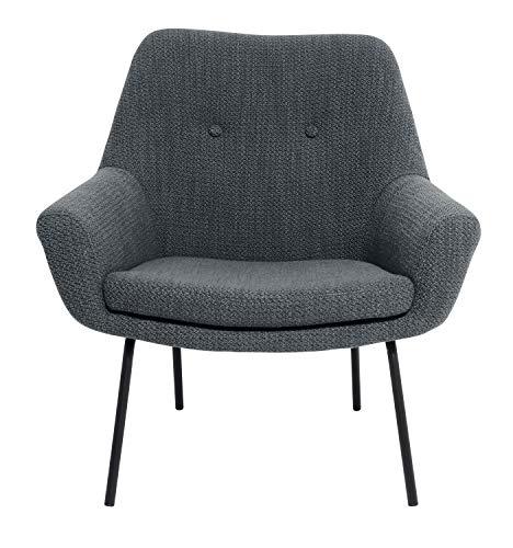 Day – USEFUL EVERYDAY stoel voor de woonkamer, bureaustoel van hoogwaardig polyester Scandinavisch design blauw of grijs Castor Grey.