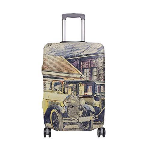 Classic Oldtimer Gepäck Abdeckung Schutz Spandex Reisekoffer Gepäck Abdeckung für Erwachsene Frauen Herren Teenager passend für 45,7-50,8 cm