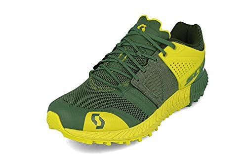 Scott - Zapatillas de Running de Tela, sintético para Hombre Amarillo Yellow Black, Color Verde, Talla 42 EU