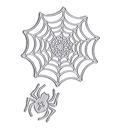 Aisoway Taglio Halloween Spider Ragnatela Metallo Muore dell'album della Carta di goffratura Stencil 1 Set
