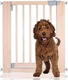 Bettacare Wooden Pressure Fit Pet Gate Range (74 cm - 81 cm, Natural)