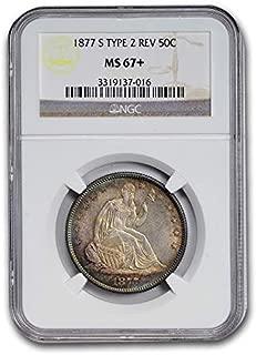 1877 S Liberty Seated Half Dollar MS-67+ NGC (Type-II Rev.) Half Dollar MS-67 NGC