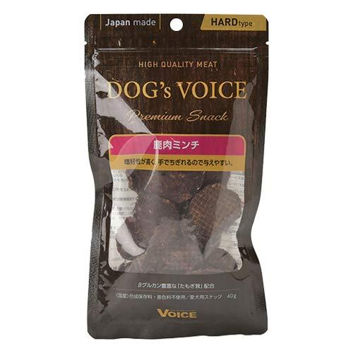 DOG'S VOICE ドッグヴォイス プレミアムスナック 鹿肉ミンチ 犬用 40g