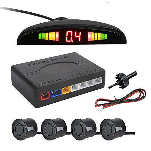 S-D SHOP - KIT 4 SENSORI DI PARCHEGGIO WIRELESS UNIVERSALI RETROMARCIA DISPLAY AUTO FURGONE