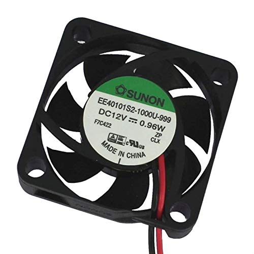 Fan 12V DC 0,8W 40x40x10mm 12m³/h 6100U/Min 12m³/h Sunon EE40101S21000U999
