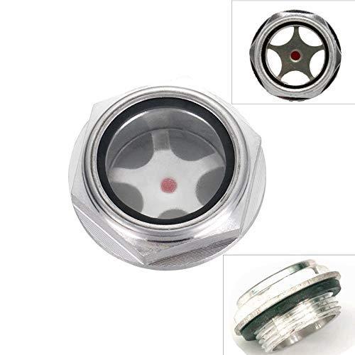 Mirilla de aceite 2 uds, Accesorios de compresor de aire, rosca macho de aluminio, mirilla de nivel de aceite transparente para compresor de aire (12 * 1,5)