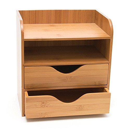 Lipper International Bamboo Desk Organizer, 4-Tier