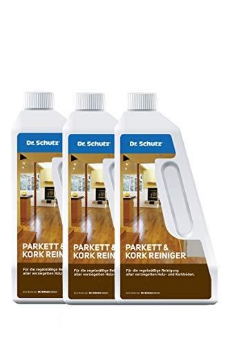 Dr. Schutz Spar-Set 3x Parkett und Kork Reiniger 750 ml