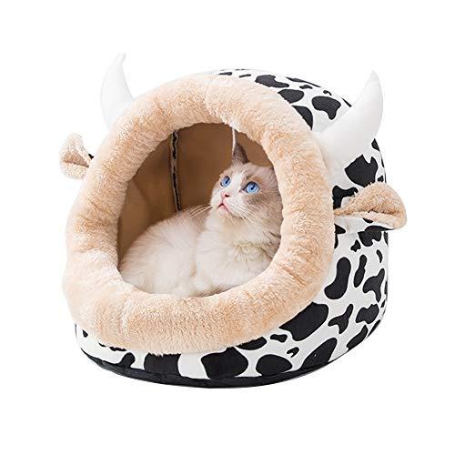 XiuHUa Huisdier Nest Wasbaar Winter Kleine Hond Huisdier Hond Hond Huis Kat Slaapzak Huisdier Mat Katoen Pad Teddy Kleine Kennel Vier Seizoenen Universeel - Drie Kleur Optionele Huisdier benodigdheden, 45X42X34cm, C