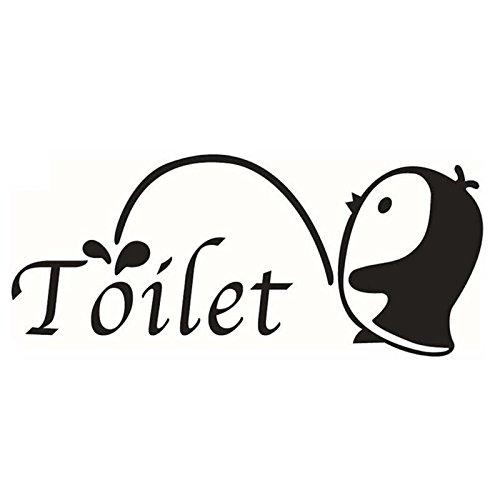 Kleiner Pinguin Wandtattoo–Toogoo Wandtattoo, selbstklebend, für die Toilette, abnehmbar, Basteln Wandtattoo Badezimmer Haus Dekoration (Kleiner Pinguin A)