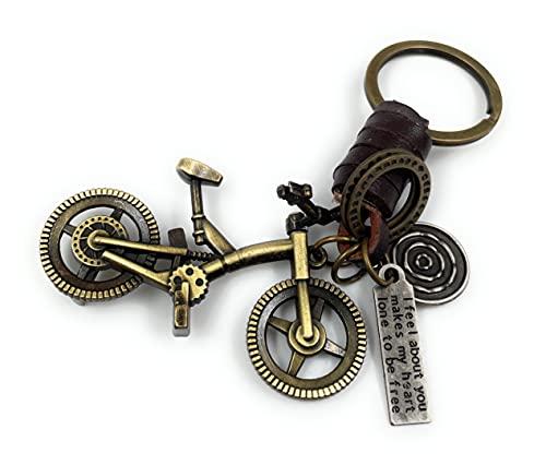 """Onwomania - \""""Fahrrad Bmx Trial Schlüsselanhänger - Metall Glücksbringer ideal als Geschenk z.B. für den besten Freund, die beste Freundin, Mama - Für Männer, Frauen & Kinder"""