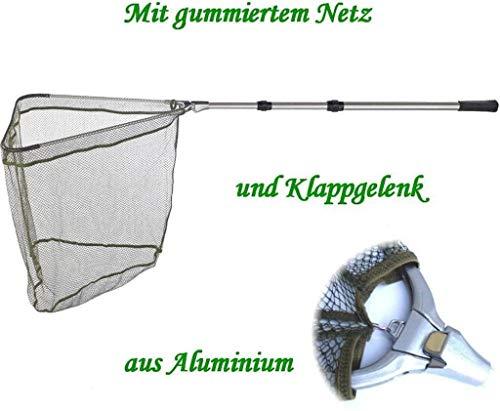 Balzer Kescher - Unterfangkescher Alu 2,20m 3-TLG 60 x 60cm Netz gummiert
