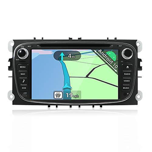 YUNTX Android 10 Autoradio para Ford Focus/Mondeo/S-MAX/Connect (2008-2011) | 2 DIN |Cámara Trasera y canbus Gratis| 7 Pulgada | 2GB/32GB | Soporte Dab+ | 4G | WLAN | Bluetooth | MirrorLink