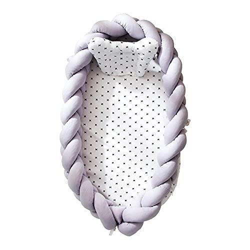 WSZMD Algodón Tejido Plegable Baby Baby Bounger Cuna Cama Portátil Biónico Removible Y Lavable Cerca Cuna Protectora Tridimensional,A-50 * 90 * 15cm