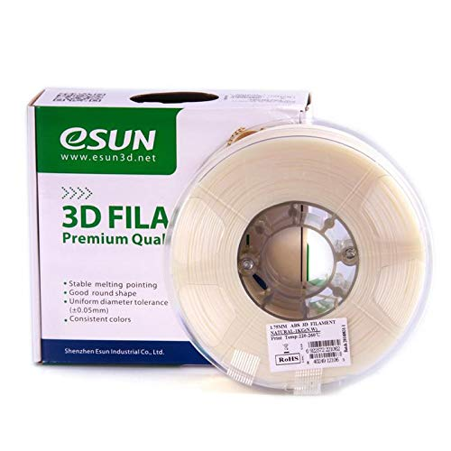 eSun 3D Filament - ABS, 1kg / 1.75mm - Natural (natural), Druck Tempe. 220-260 Grad C, Universal für 3D Drucker z.B. MakerBot RepRap MakerGear Ultimaker Mendel Huxlep UP Thing-o-matic