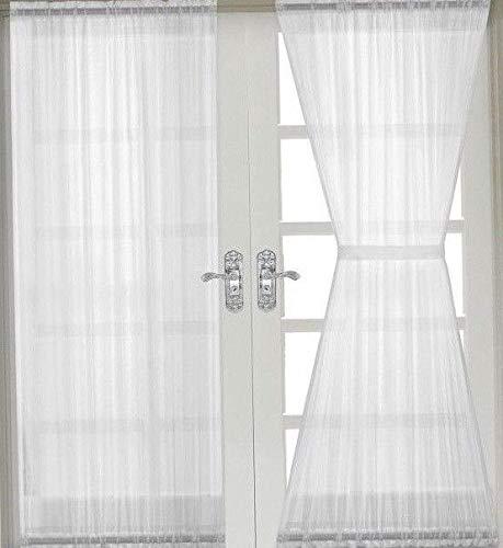 Spanngardine Scheibengardine Stangendurchzug 100cm vers. B/H (100cm x 110cm)