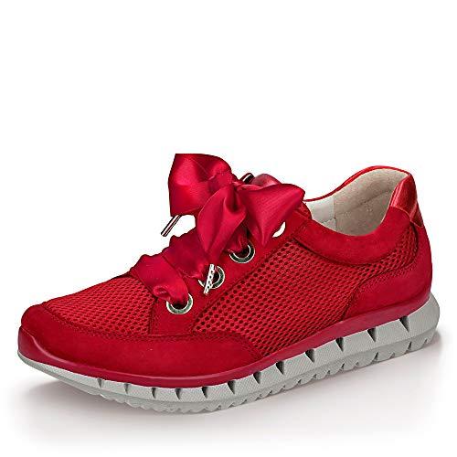 Gabor Sport Sneaker in Übergrößen Rot 24.250.15 große Damenschuhe, Größe:42.5