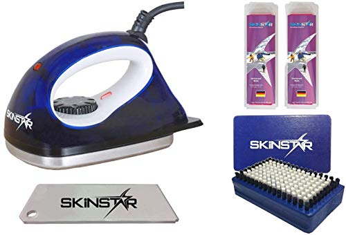 SkinStar Starter Ski Wachs Set, Wachsbügeleisen Bürste Wachs