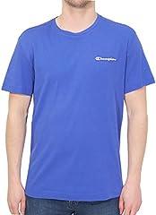 Camiseta Champion de Manga Corta Azul para Hombre Cuello Redondo