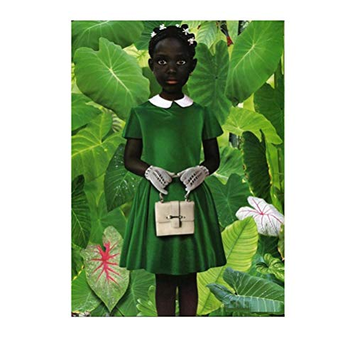 Empty Ruud Van Empel Standing in Green Green Dress Poster Art Print Painting Photo Wall Art Picture Painting Poster and Prints-20X28 Inchx1 Frameless