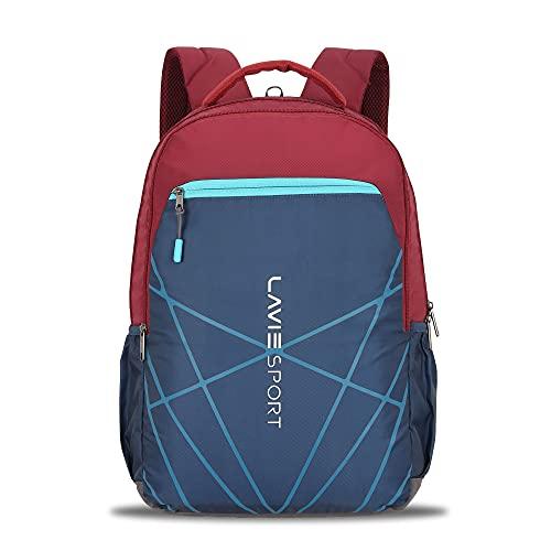 Lavie Sport Twist 34 Ltrs Casual Backpack   School College bag for Boys & Girls (Maroon)