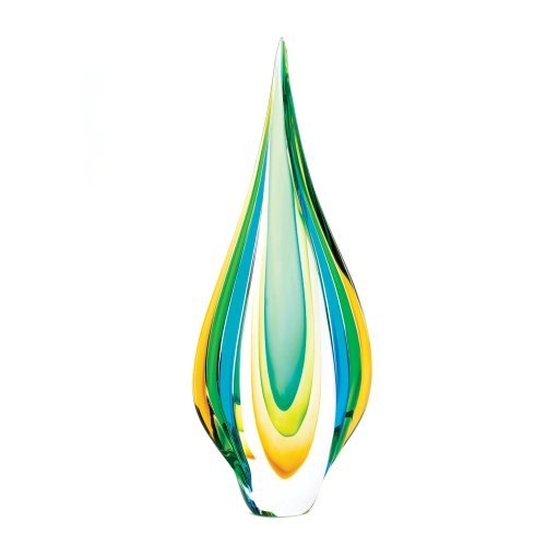 FA Decors Contemporary Style Cool Flame Art Glass Statue Figurine by Home Locomotion