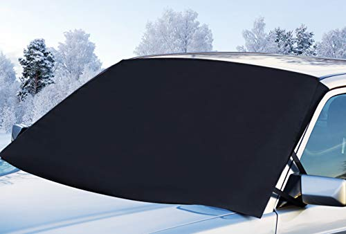 Gelibo Car Windshield Snow Cover with 2 Mirror Covers,Heavy-Duty Durable Sun Shade Snow,Ice,Frost Protector Waterproof for Cars,Standard Pickup,SUV
