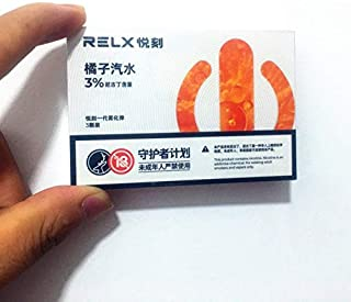 RELX replacement pods new flavor 悦刻一代新口味烟弹 橘子汽水 草莓雪冰 3颗装 (橘子汽水 オレンジジュース)