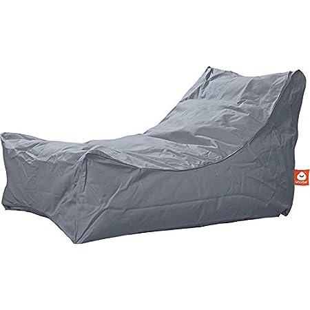 komfortable Birnenform//Tropfenform WHOOBER Bar/ça Outdoor-Sitzsack Anthrazit - f/ür Drinnen /& Drau/ßen H/öhe: 146 cm Langlebige Qualit/ät /Ø 84 cm Waschbar