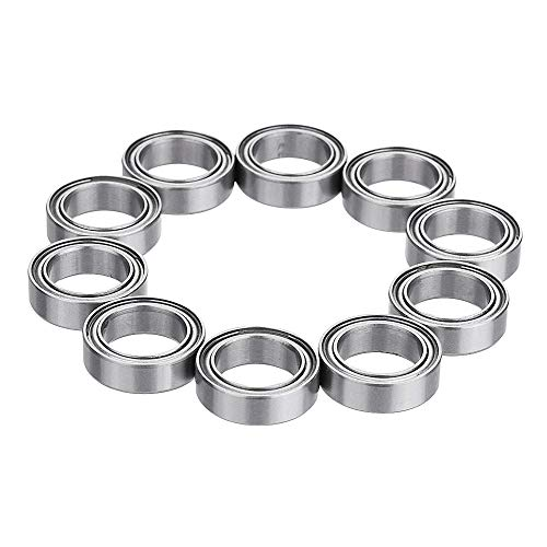 Donepart 5mm ID 9mm OD 3mm Thick Miniature Bearings MR95ZZ Ball Bearing Double Shielded and Pre-Lubricated Steel Bearings (Pack of 10)