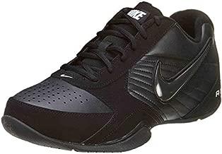 Nike Mens Air Baseline Low Basketball Shoes-Black/Black-White-9