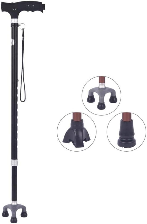 Huikafir Alpenstock Gehstock verstellbar hhenverstellbar Gehstock Cane mit ergonomischem Griff 3 Rutschfeste Basis Trekkingstange