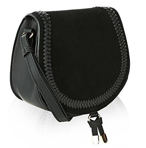 MKF Collection Simply Elegant Saddle Bag by Mia K. Farrow (Black)