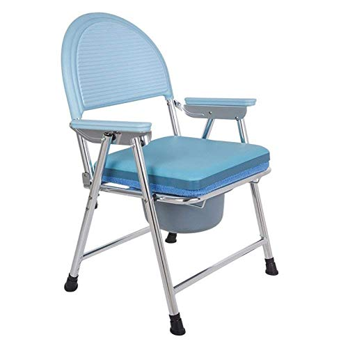 Toiletstoel Commode Seat, opvouwbare rolstoel Douche Bedside toiletstoel, for de badkamer, balkon, slaapkamer, woonkamer, gang, ziekenhuis, kleedkamer, verpleeghuis