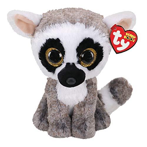 Ty UK Ltd 36472 Linus Lemur - Boo Med - Peluche (24 cm), Multicolor