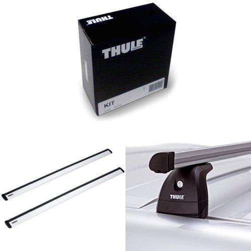 Thule Kit 3028 + Thule 961100 WingBar Dachträger + Thule 753 Fußsatz für Fahrzeuge mit vorhandenen Befestigungspunkten