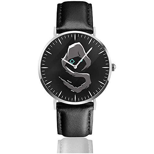 Shro-ud Fasion Uhren Black Leather Strap Watche