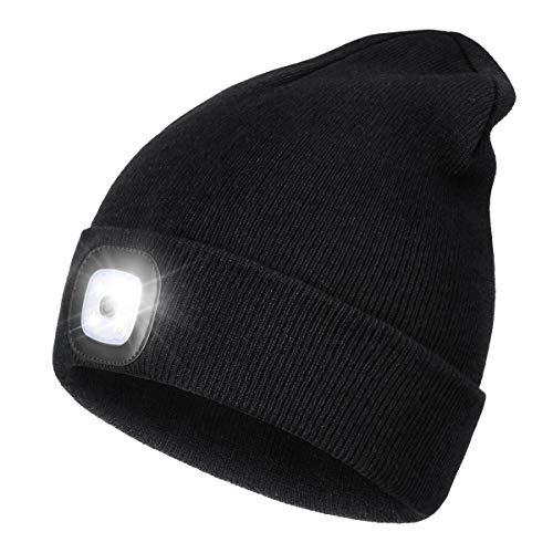 berretto con luce led Wmcaps Cappello Uomo Illuminato Berretto 4 LED