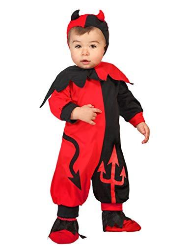 Atosa -22722 Costume Demonio, Rosso, 12-24 mesi (22722)