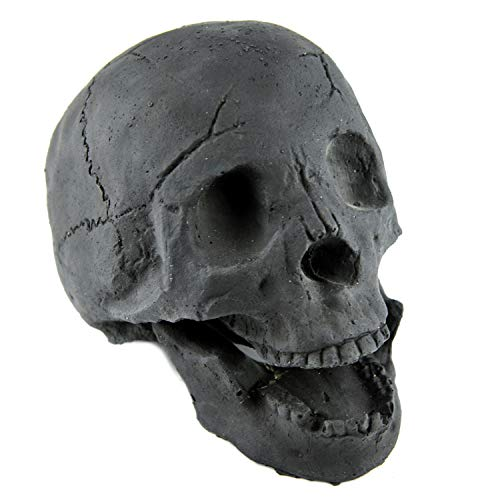 Myard Fireproof Imitated Human Fire Pit Skull Gas Log for NG, LP...